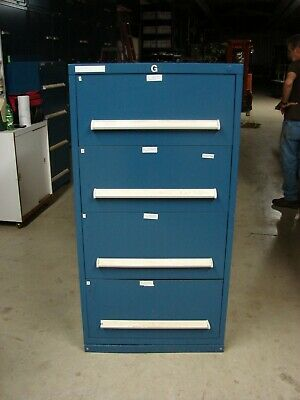 Stanley Vidmar 4 Drawer Cabinet Blue Good Condition