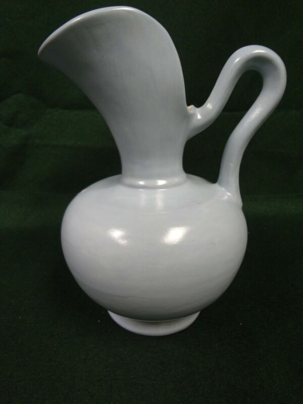 "Vintage Art Deco Pottery Stone ewer 9"" pitcher Art Pottery"
