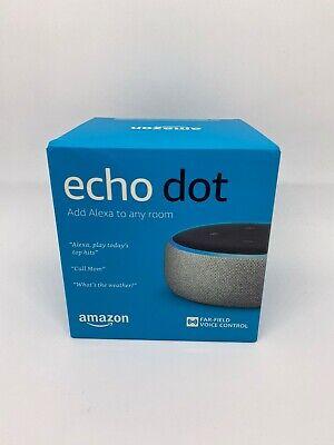 Amazon Echo Dot 3rd Gen Smart speaker with Alexa Charcoal NEW SEALED