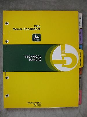 John Deere 1380 Mower Conditioner Technical manual TM-1204