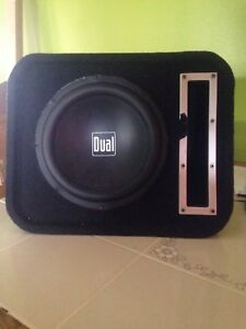 "10"" dual sub woofer in box"