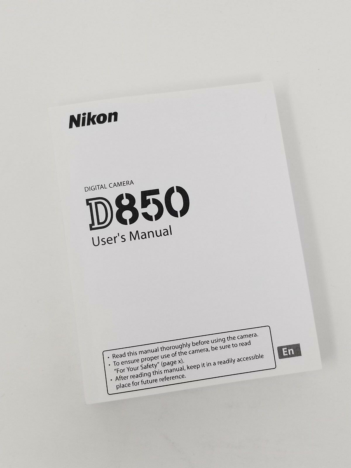 Nikon D850 Instruction Owners Manual D850 Book  NEW