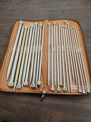 Bernat Aero Knitting Needle Set In Zippered Case England Needlecraft Set