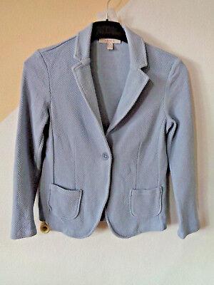 Jacke Blazer Anzugjacke Kostümjacke Waffelpique hellblau ESPRIT Gr. XS/S