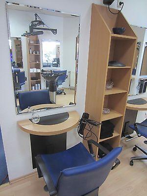 Friseureinrichtung WELONDA Friseur BARBER ein Frisierplatz  Spiegel Ablage