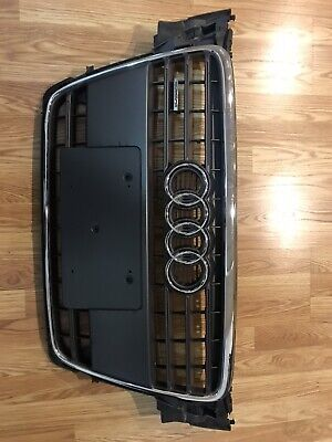 2009 2010 2011 2012 AUDI A4 FRONT BUMPER CENTER GRILLE GRILL OEM WITH AUDI BADGE