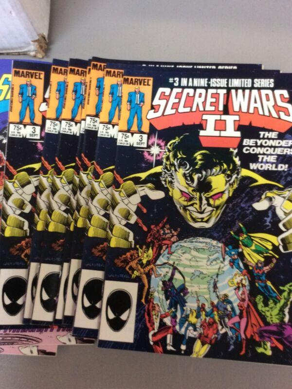 SECRET WARS II #2 & 3  NEAR MINT UNREAD COPIES   BEYONDER TAKE A LOOK NICE