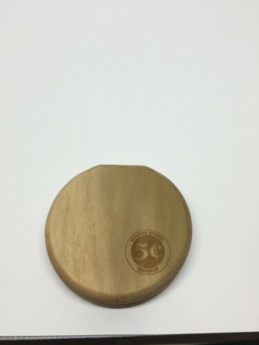 Compact  Round  Pathtag Wallet-Poplar