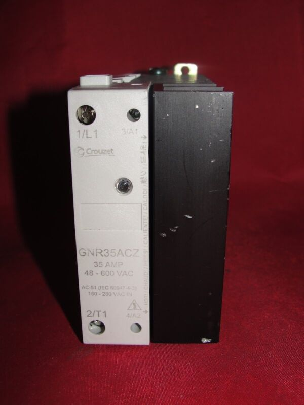 Crouzet GNR35ACZ 35 Amp 48-600 VAC Solid State Relay