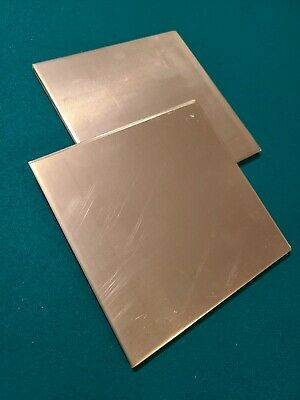 .250. 14 Aluminum Sheet Plate. 6 X 6.  Flat Stock. 2 Pcs