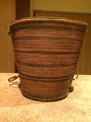 OLD INDONESIAN BORNEO DAYAK BABY CARRIER ARTIFACT