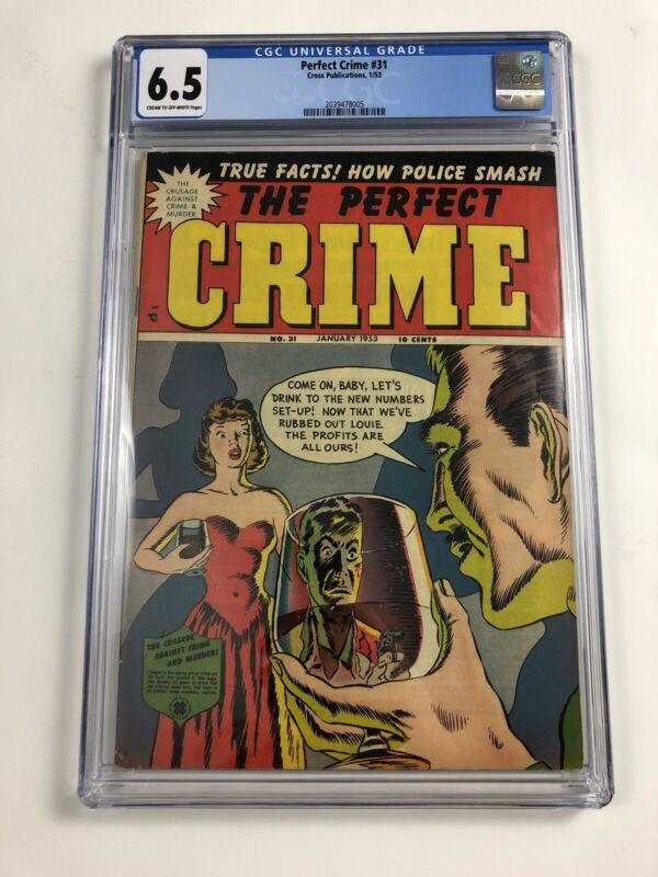 The Perfect Crime #21 CGC 6.5 Cross Publications 1953