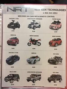 Kids Cars Drivable and RC Ride On