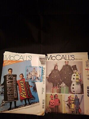 Hershey Kiss Halloween Costumes (Mccalls costume patterns tree pumpkin crayon snowman Hershey's  Kisses)