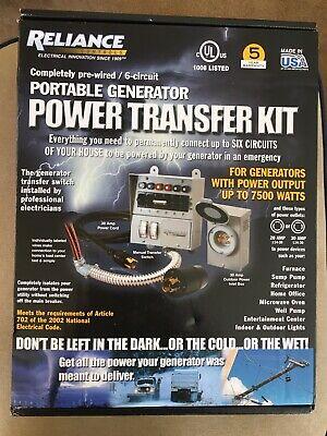 Reliance Model 31406 For Power Transfer Kit Models 31406crk - Brand New
