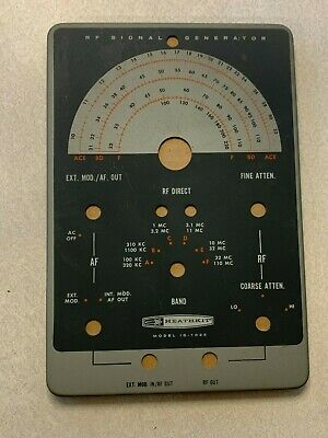 Vtg Heathkit Rf Signal Generator Model Ig-102s Face Plate Replacement Cover