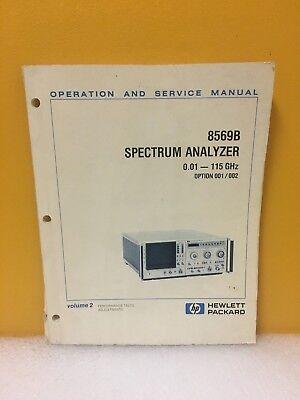 Hp Agilent 08569-90032 8569b Spectrum Analyzer 0.01 - 115 Ghz Manual