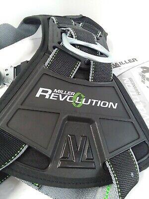 Miller Revolution Rdt-qcmbk Full Body Tower Climbing Harness Largex-large