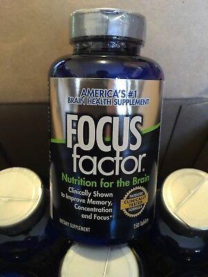 New Focus Factor Dietary Supplement Brain Health Supplement 150 Tablets Exp 2019
