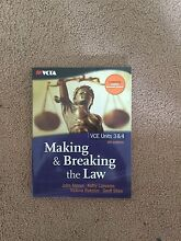 Making and breaking the law textbook Brighton East Bayside Area Preview