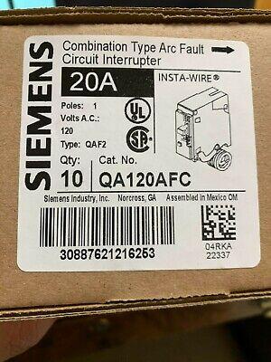 Siemens Qa120afc Combination Arc Fault Circuit Breaker Brand New Box Of 10