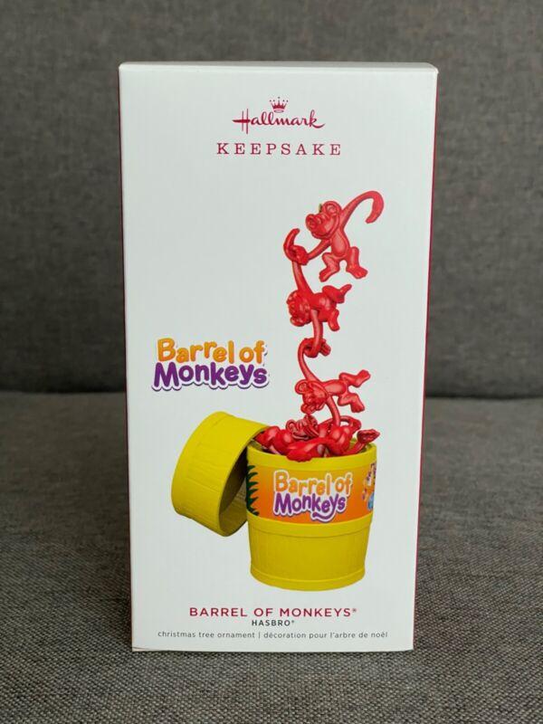 2019 BARREL OF MONKEYS Hallmark Keepsake Ornament NEW! Hasbro