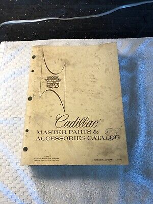 Original 1960's-1971 Cadillac Master Parts And Accessories Catalog Dealer