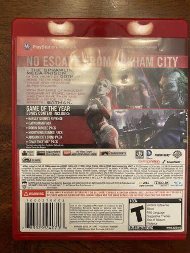 Batman Arkham City GOTY Edition PS3 - Tested Works - $7.00
