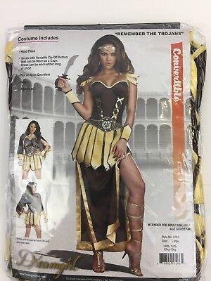 Women's Remember The Trojans Greek Gladiator Warrior Sparta Costume Size Large (Sparta Costumes)