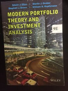 COMM 467: Modern Portfolio Theory And Investment Analysis