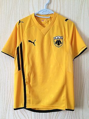 AEK ATHENS GREECE 2010 2011 PUMA FOOTBALL SHIRT JERSEY image