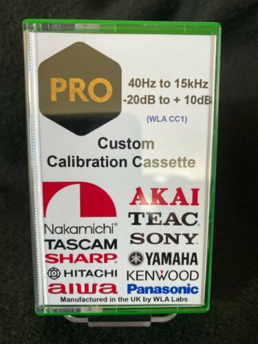 Custom Made Calibration Test Tone Cassette Tape - Speed Azimuth Frequency Level