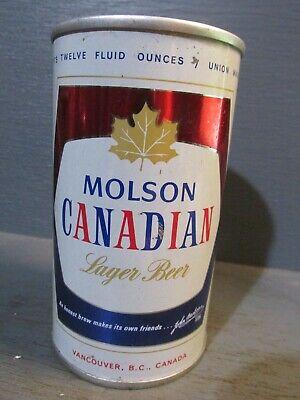 MOLSON CANADIAN_ VANCOUVER B.C._ WIDE SEAM STEEL BEER CAN   -[READ DESCRIPTION]-