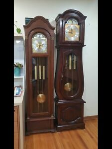 Vintage Grandfather and Grandmother clock collection