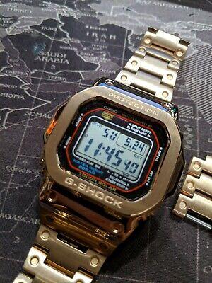 Casio GW-M5610-1ER Rose Gold steel case/bracelet mod G-Shock watch