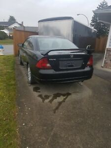 Black Honda Civic Si Coupe 2003
