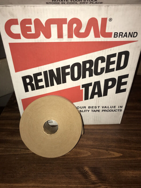 Central Reinforced Gummed Tape 2.75in 70mm x 450ft Water Activated Paper