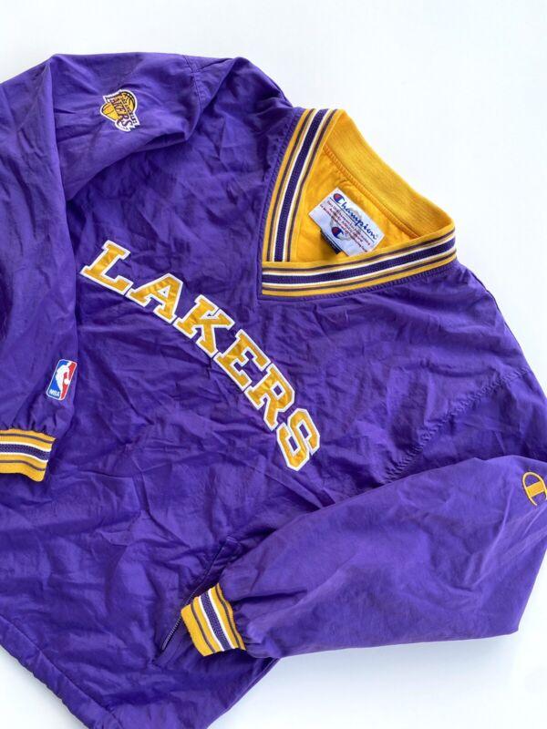 Vtg 90s Los Angeles Lakers Champion Windbreaker/Pullover Size L