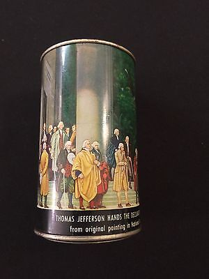 Thomas Jefferson Declaration Independence Tin Bank Vintage Americano Canco Co