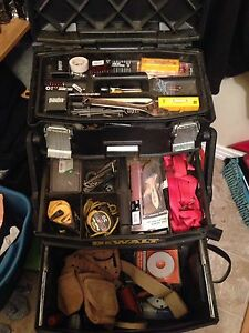 DeWalt tool box with tools for sale