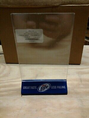 LOT OF 10 TABLE TENT INSERT HOLDERS PLASTIC MILLER LITE Beer Bar Picture Frame Table Tents Holders