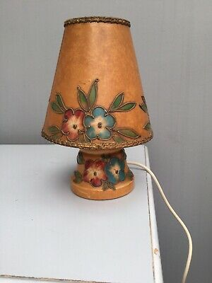 Unusual ART DECO /  Vintage Small Lamp With Matching Shade.