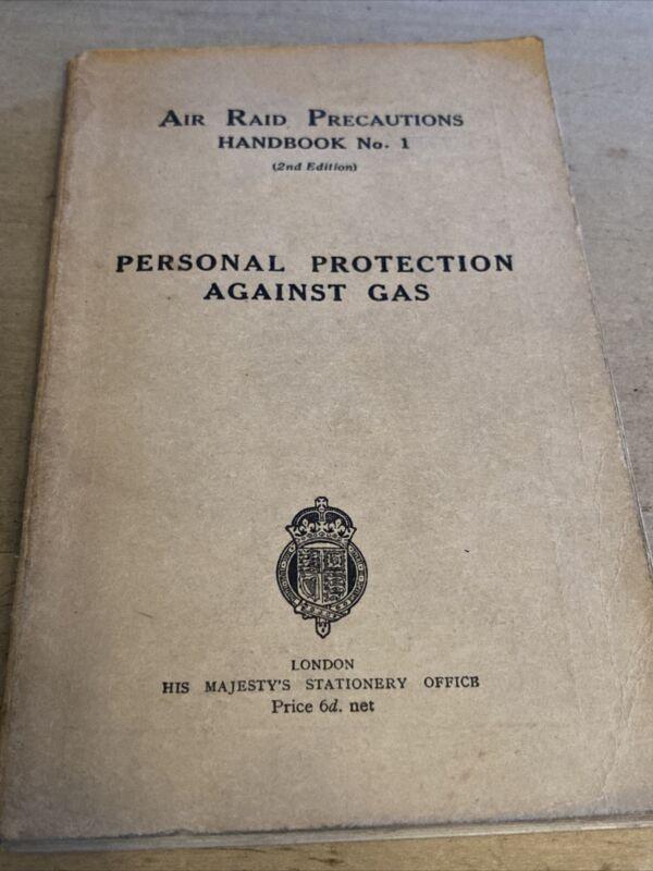 "WWII 1938 Air Raid Precautions ARP ""Personal Protection Against Gas"" Handbook 1"