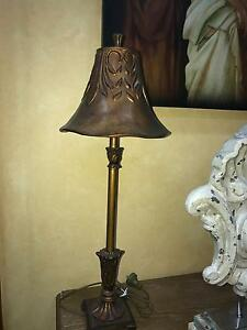 Table lamp gold brown painted finish $70 each Kingsgrove Canterbury Area Preview