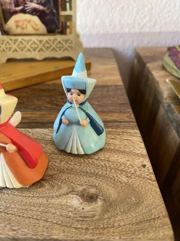 Disney Sleeping Beauty Fairy Merryweather Porcelain Ceramic Figurine
