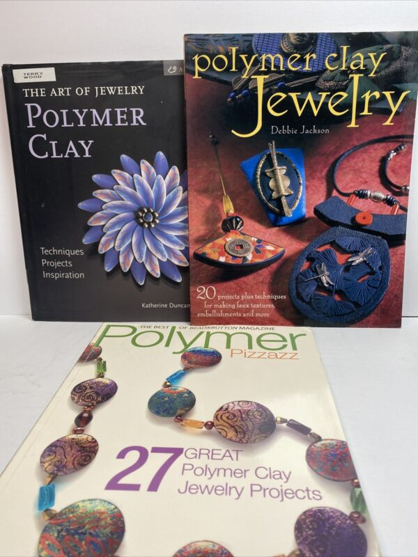 Polymer Clay Jewelry Making And Instruction Projects Books Lot Of 3