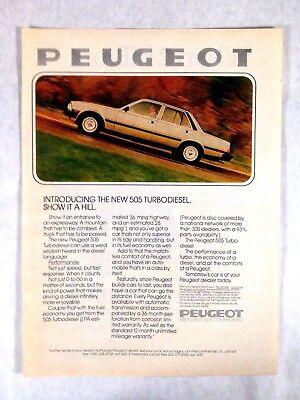 1980 Peugeot 505 Turbodiesel Vintage Print Ad