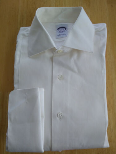 NWT Brooks Brothers White Formal Pique Front 15.5-32 Regular MSRP$135