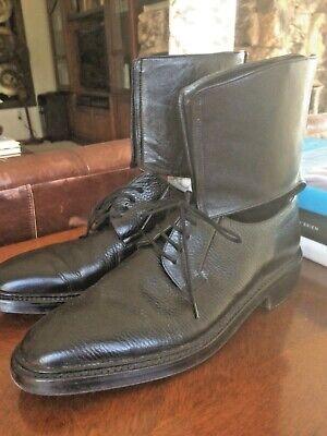 Men's YANG Li Cuffed Black Derby Shoe/ Boots Size US 8, EU 41