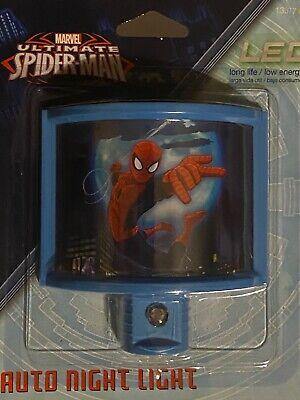 NEW Marvel Jasco Ultimate Spider Man 13377 LED/low energy Auto night light